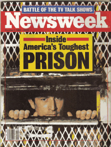 """This cover of Newsweek for Oct. 6, 1986, features a story, """"Inside America's Toughest Prison,"""" about Eastham Unit, where Malik is now housed."""